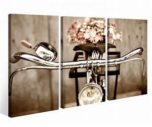 Bild 3 Teilig Auf Leinwand : leinwandbild 3 tlg fahrrad retro rad blume kunst leinwand bild bilder auf keilrahmen holz ~ Markanthonyermac.com Haus und Dekorationen