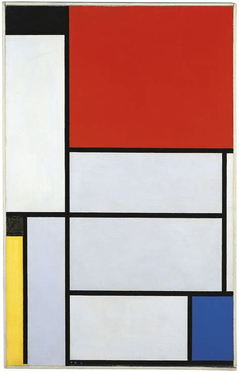 Piet Mondrian by Piet Mondrian Composition With Red Blue And Yellow 1921