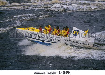 Brunswick Boat Group Stock by Jet Boat Ride Reversing Falls Saint John River New