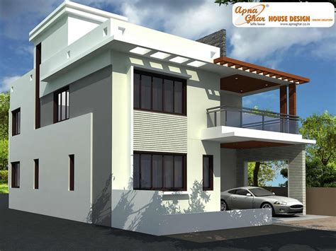 Modern Beautiful Duplex House Design  Home Design Elements
