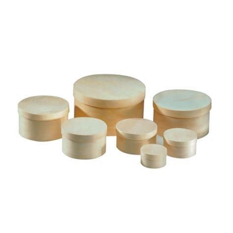 boite en bois ronde les ustensiles de cuisine