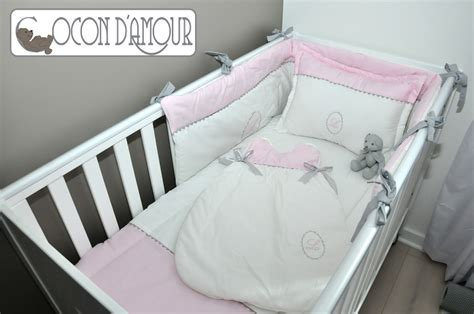 ensemble linge de lit b 233 b 233 5 pi 233 ces linge de lit enfants par cocon damour