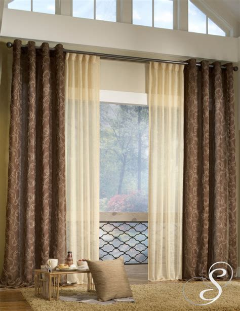 modern curtains in living room home decorating ideas