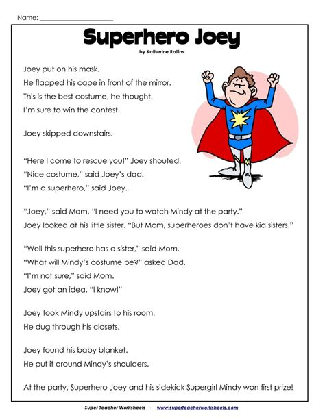 2nd Grade Reading Comprehension Worksheets Pdf  Projects To Try  Pinterest Reading