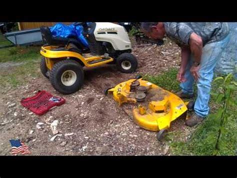 mtd yard machines 38 inch mower deck installation and