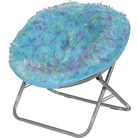 idea nuova rock your room spiker faux fur saucer papasan chair reviews wayfair