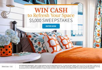 Meredith  Better Homes And Gardens  Win $5,000 Cash