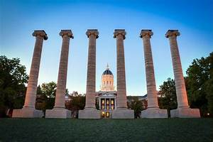Mizzou Homecoming Photograph Columns on the Quad Jesse