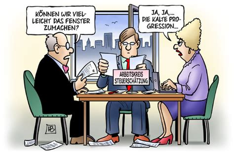 Kalte Steuerschätzung von Harm Bengen  Politik Cartoon