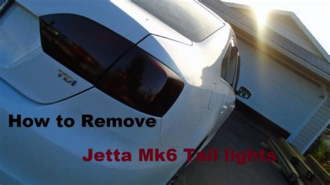 How To Remove Jetta Mk6 Tail Lights Youtube