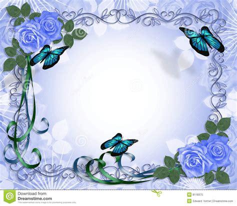 cadre bleu de roses d invitation de mariage photo libre de droits image 8118375