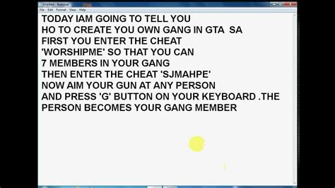 Cheat Code For Boat In Gta San Andreas by How To Make Your Own Gang In Gta San Andreas Avi Youtube