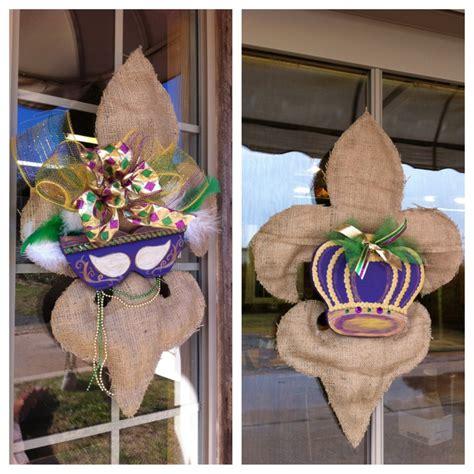 burlap mardi gras fleur de lis door decor available at