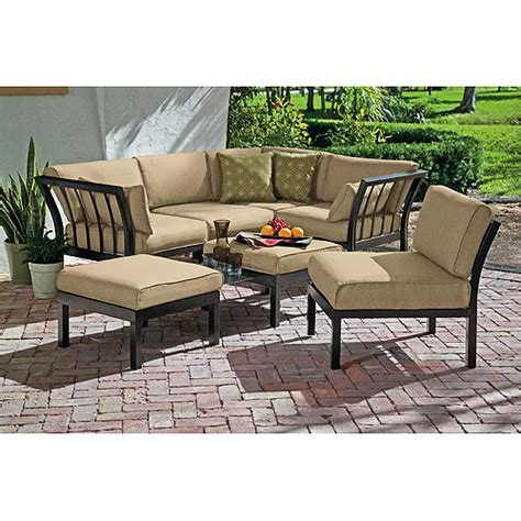 ragan meadow 7 outdoor sectional sofa set seats 5