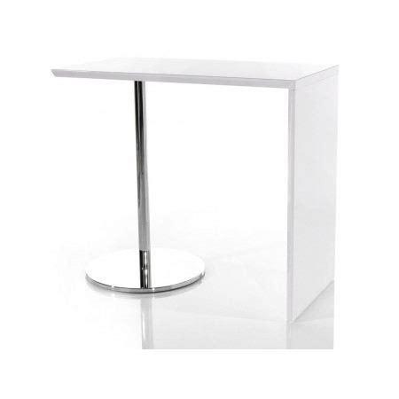 table de bar tomy blanc laqu 233 achat vente mange debout table de bar tomy blanc laqu 233 les