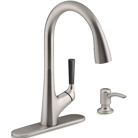 kohler malleco vibrant stainless 1 handle kitchen faucet lowe s canada