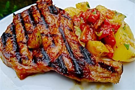 recette de c 244 tes de porc au barbecue salade de pommes de terre 224 la mexicaine facile et rapide