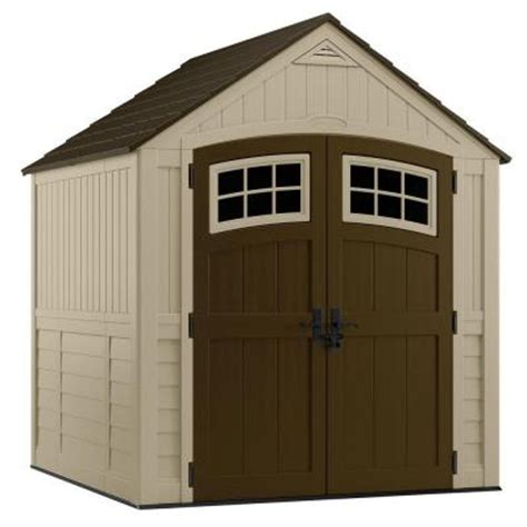 4x8 plastic storage shed suncast sutton 7 ft 3 in x 7 ft 4 5 in resin storage
