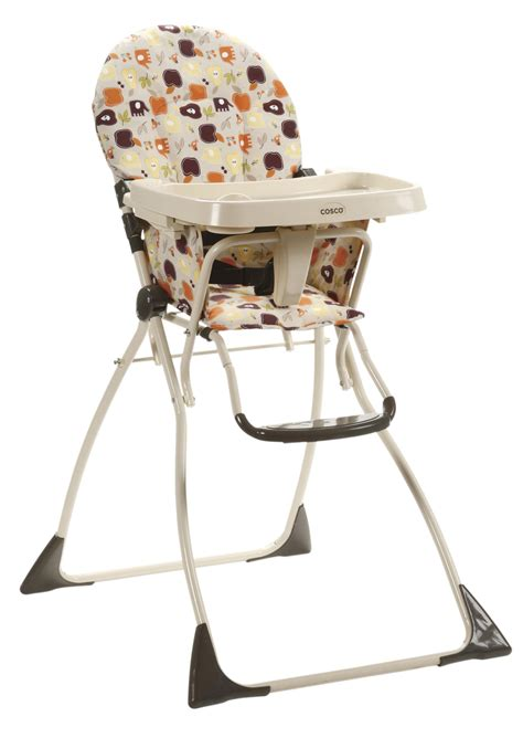 cosco cosco 174 flat fold high chair fruity jungle by oj