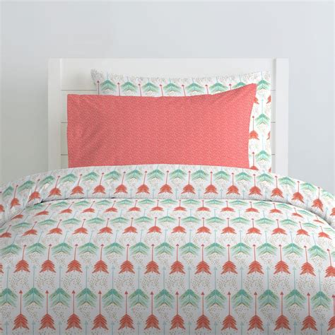 coral and teal arrow bedding carousel designs