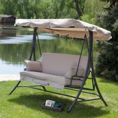 patio swing with canopy menards wooden hanging 2 person