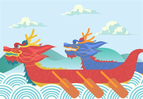 Dragon Boat Festival Vector by Dragon Boat Festival Background Vector Download Free