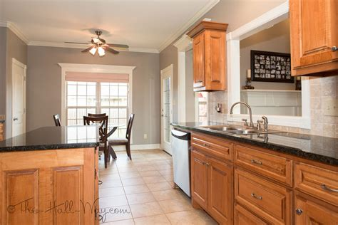 Kitchen Wall Color Ideas With Cherry Cabinets by Summer Tour Of Homes The Hall Way