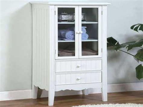 Bath Furniture Storage, Floor Storage Cabinets With Doors