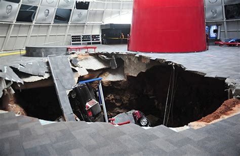 chevrolet to restore corvettes swallowed by sinkhole driving