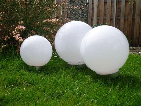 Solar Led Kugelleuchte 3erset 30,25,20 Cm Gartenkugel