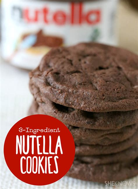 nutella cookies with only 3 ingredients need we say more