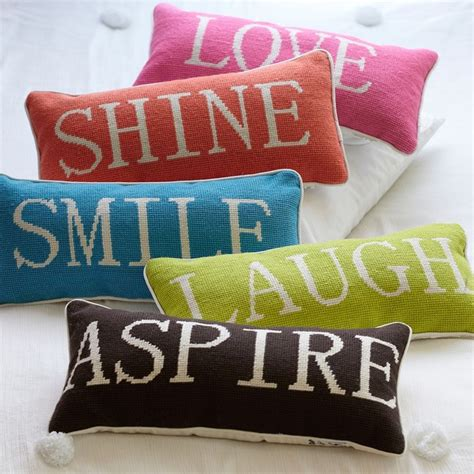 word pillow collection contemporary decorative pillows by pbteen