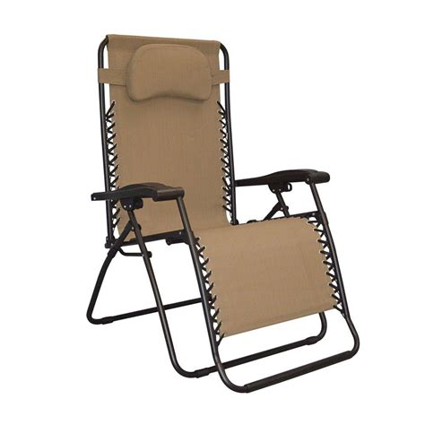 caravan sports infinity oversized beige zero gravity patio chair 80009500150 the home depot