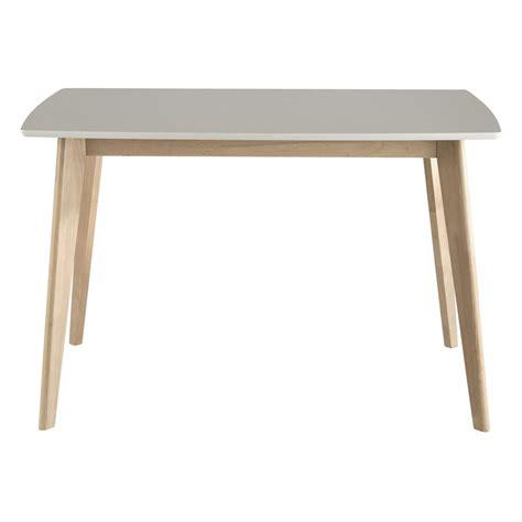 table de salle 224 manger en bois blanche l 120 cm maisons du monde