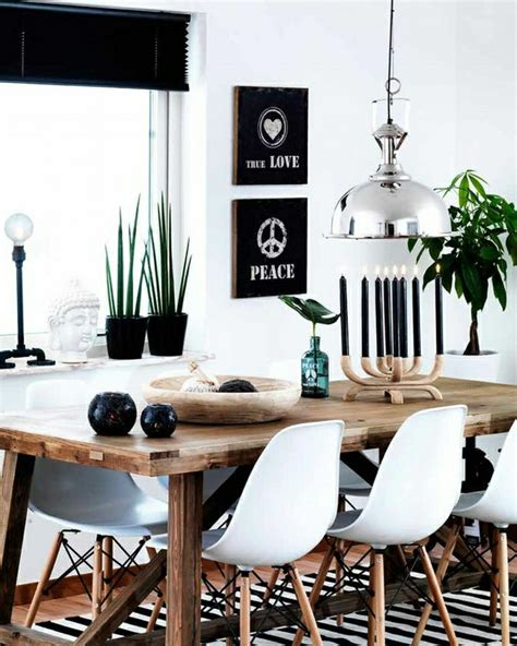 1 salle a manger complete pas cher d esprit loft avec fenetres grandes table en bois