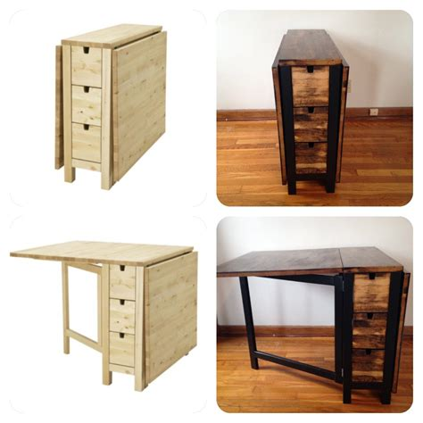 table pliante ikea norden beautiful foldable craft table made from scrap wood with table