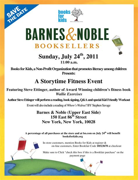 barnes and noble times free nyc b n and books for storytime fitness event