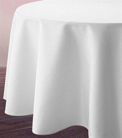 nappe ronde blanche tissu polyester 3m d 233 coration de table bapteme