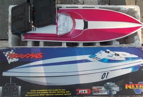 Nitro Boats Remote Control by Lot Of 2 Traxxas Nitro Gas Powered Remote Control Boats