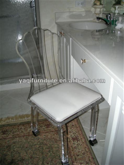 acrylic vanity chair with wheels buy vanity stools chairs clear acrylic chairs clear acrylic