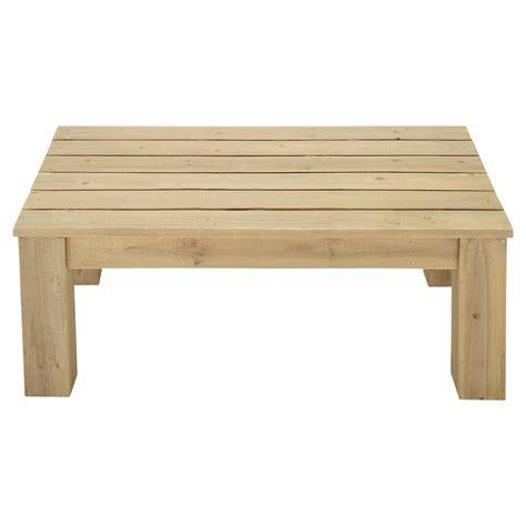 table basse de jardin bois br 233 hat maisons du monde