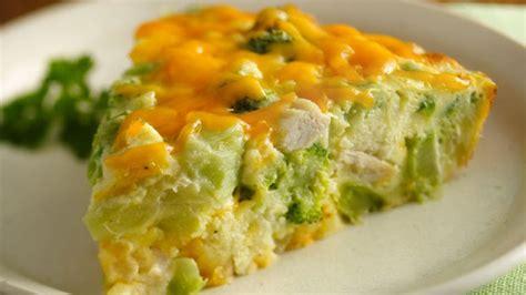 quiche sans p 226 te au poulet et brocoli weight watchers plat et recette