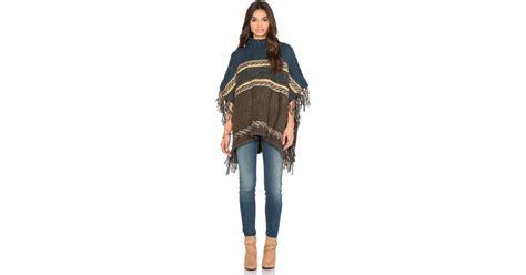 Free People Labyrinth Poncho In Green