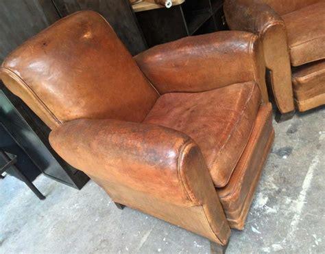 paire de fauteuils club ancien