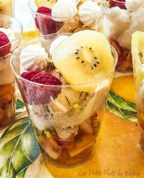 dessert glace fruits minute les petits plats de m 233 lina