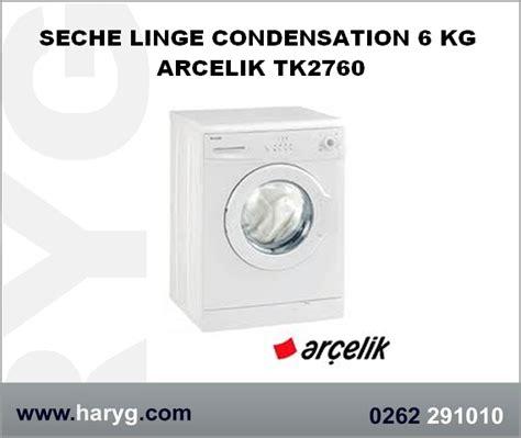 seche linge condensation 6 kg arcelik tk2760