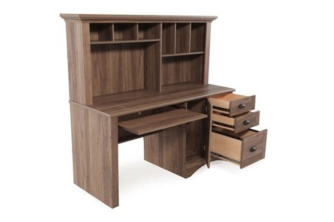 sauder harbor view computer desk with hutch mathis brothers furniture