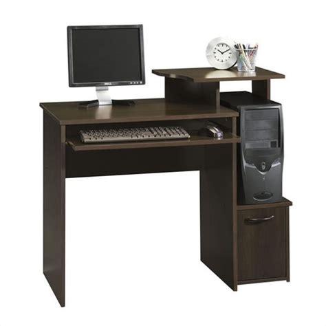 office beginnings wood computer desk in cinnamon cherry 408726