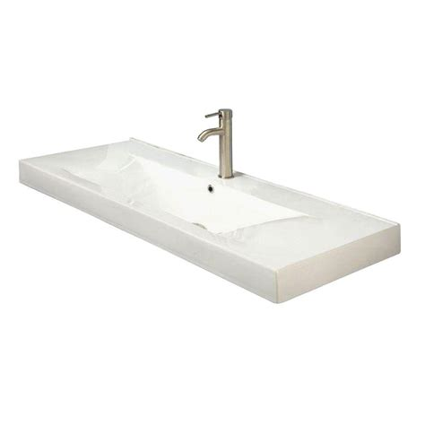 decolav cityview vessel sink in white 1466 cwh the home