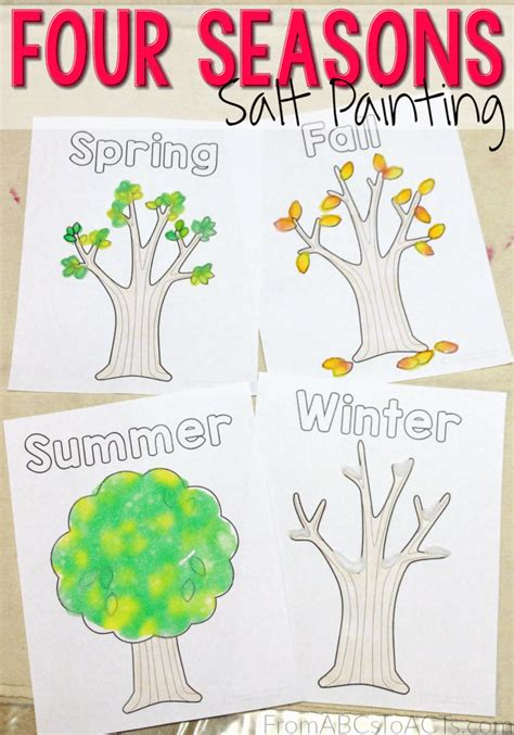 Four Seasons Salt Art  From Abcs To Acts